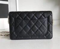 Top Quality Luxury Brand Hand Bag Fashion Women Favorite Woc Caviar Flap Genuine Leather Bag Gold