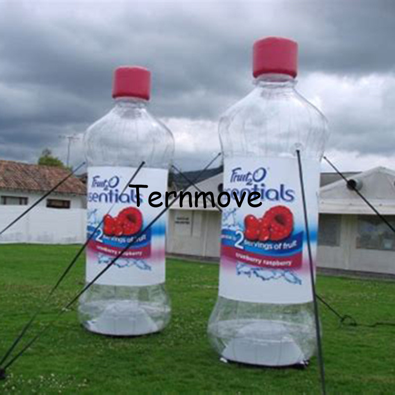 inflatable water bottle Advertising exhibition inflatable beer red wine coffee bottle can balloon model with air pump