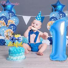 PATIMATE Baby 1st Birthday Balloons Girl Ballons Decoration 1 Year Baloon Boy Helium Balloon Number Letax Balon