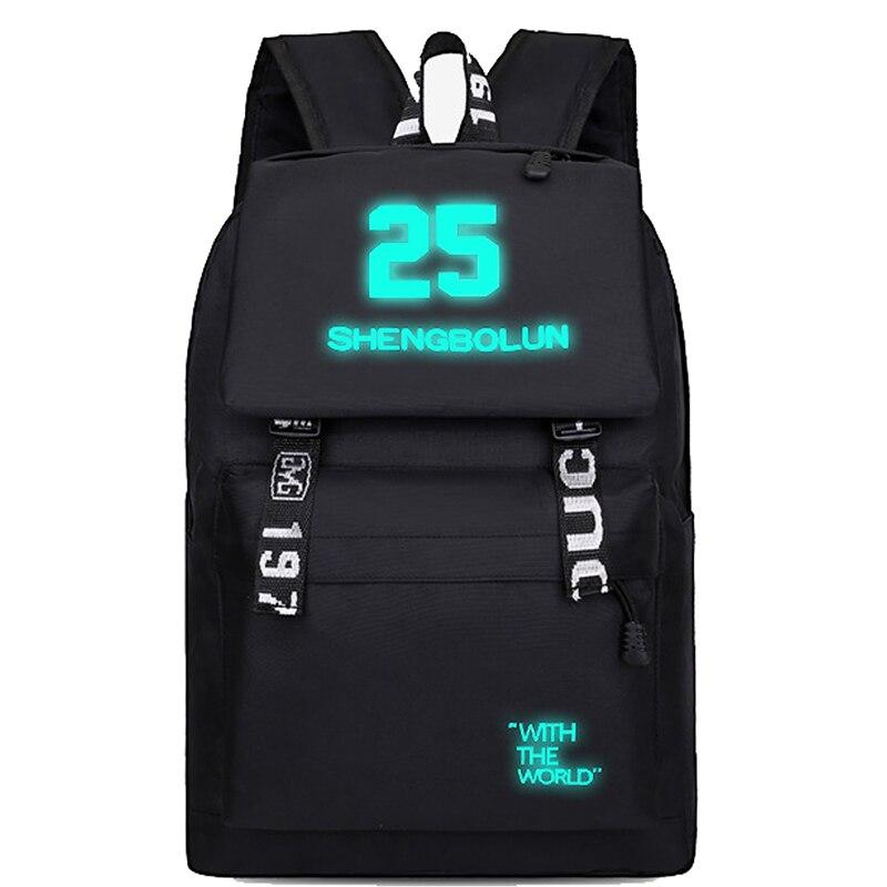 2019 Fashion Luminous Cute Schoolbag For Teenage Kids Backpack To School Bag Teenagers Student Book Bag Bookbag For Boys Girls