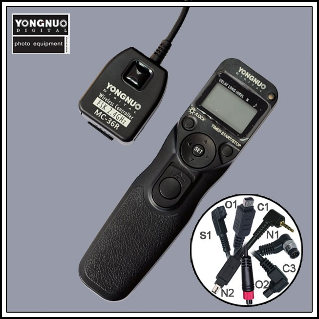 YongNuo Wireless Timer Remote Controller Shutter Release MC 36R C1 for Canon Rebel T3 XS T5i