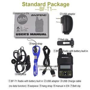 Image 4 - Baofeng BF T1 Mini Radio bidirectionnelle tenue dans la main UHF 400 470MHz 20CH FM talkie walkie avec écouteur ou + câble USB