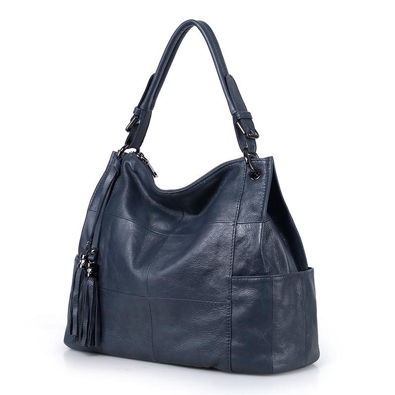 2019 Новая модная женская сумка из мягкой натуральной кожи с кисточками, женская сумка через плечо, сумка мессенджер, кошелек, сумка портфель, ...