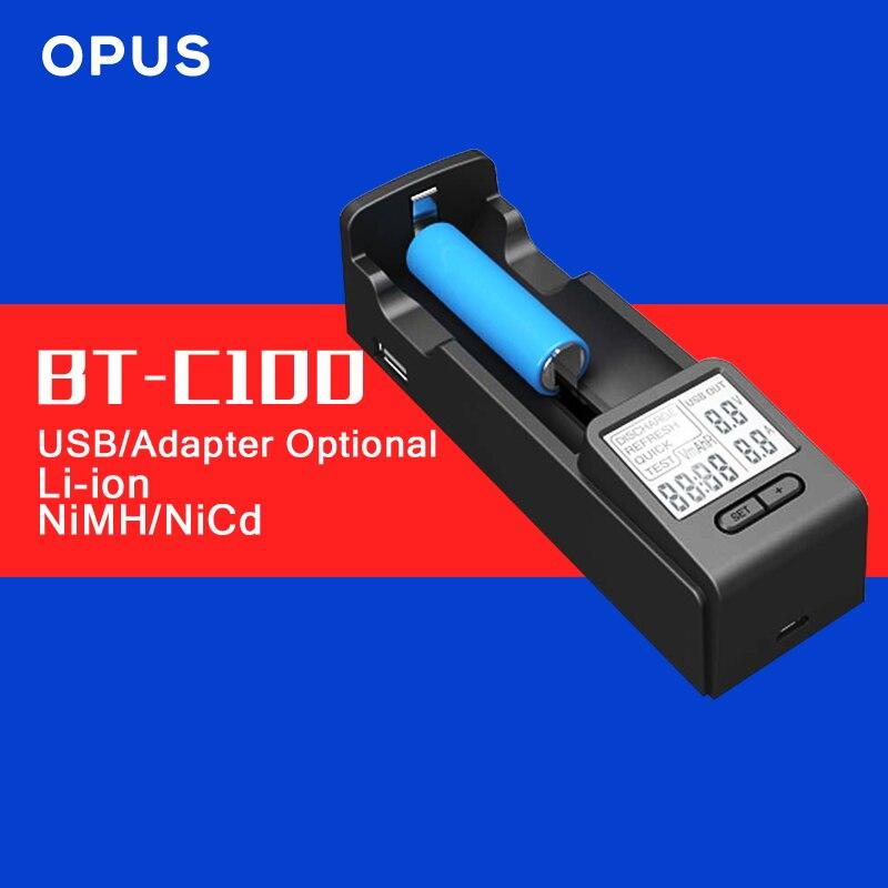 Original Opus BT-C100 Lithium-ionen-nimh Intelligente Ladegerät mit LCD Display AA AAA C D 26650 18650 14500 10440 26650