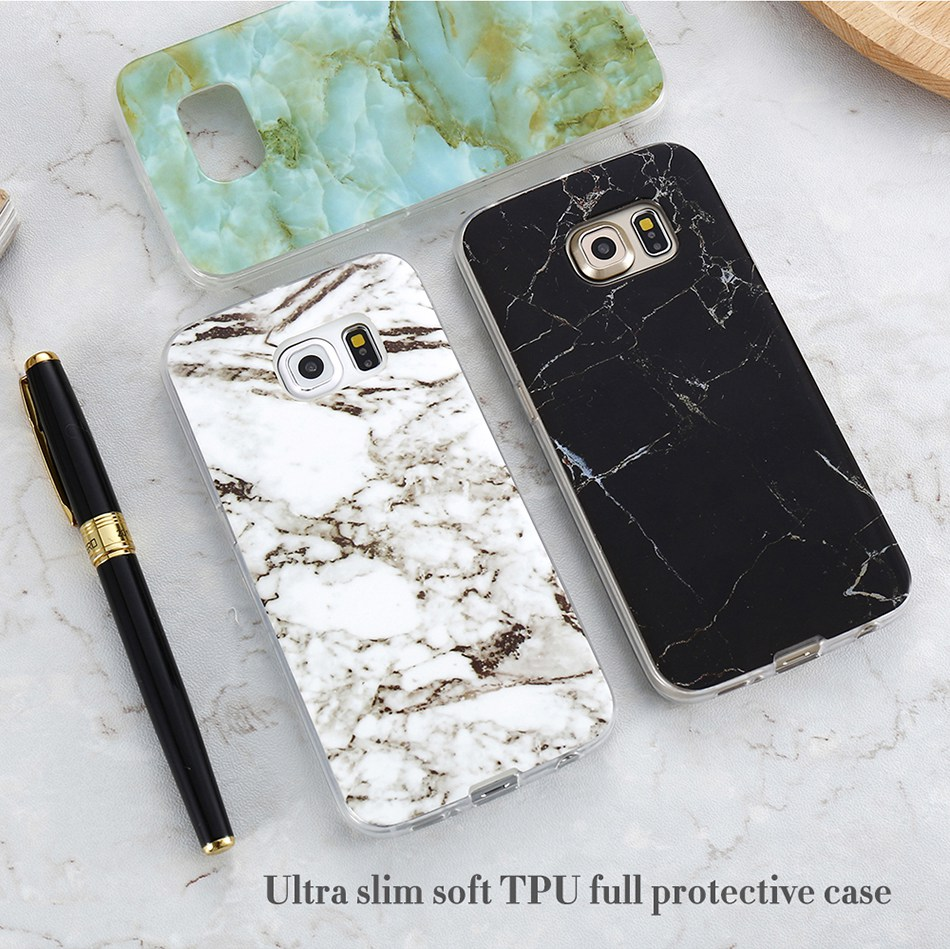 Marble Skin Case For Samsung Galaxy S8 Plus S7 S6 Edge S4 Soft Silicon Phone Cases (5)