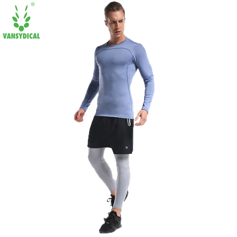 Sports Running T Shirt thermal underwear men gym fitness compression set sweat quick drying thermo underwear men clothing 4pcs