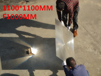 Большая линза Френеля площади объектива 1100*1100 мм линза Френеля фокусное расстояние 1000 мм Температура можете есть 1000 Цельсия