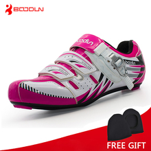 Boodun Women Lightweight Road Bike Shoes Outdoor Sport Self Lock Cycling Shoes Bicycle Racing Athletic Shoes