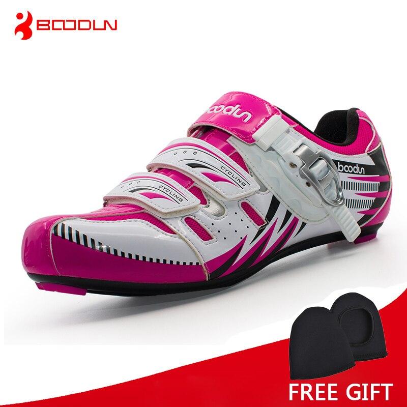Boodun Women Lightweight Road Bike font b Shoes b font Outdoor Sport Self Lock Cycling font