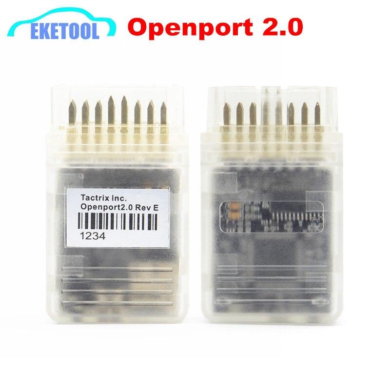 Cable Flash ECU, Tactrix Openport 2,0 + ECUFLASH con Chip ECU, interfaz de afinación para Toyota, Jaguar J2534, puerto abierto 2,0