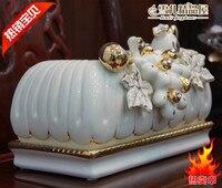 GUCI новый европейский высокопробного золота керамические винограда Насосное бумажные полотенца Box свадьбы домашней обстановки ремесло укр
