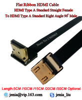 5 10 15 20 30CM Ultra Thin Soft Flexible HDMI Ribbon Flat Cable FPV Type A
