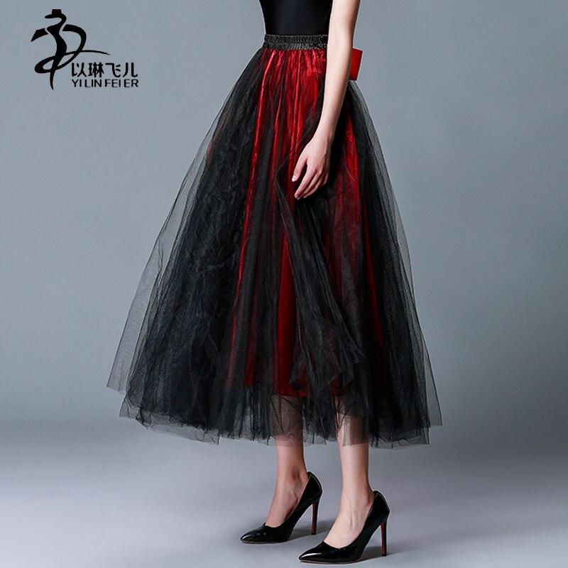 2017 Waltz New Style Half Long Women Dancing Dresses Ballroom Dance Skirts
