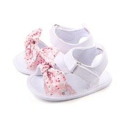 Doce de Verão Sapatos de Bebê Menina Princesa Big Bow Floral Macio Primeiro Caminhantes Sola Anti-Slip Crianças Berço Calçados Bebe 0-12 M