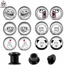 цена KUBOOZ Ear Stretcher Acrylic Piercing Ring Body Jewelry Tunnels Plugs Expander Gauges Earrings Fashion Jewelry 12PCS 2G 0G онлайн в 2017 году