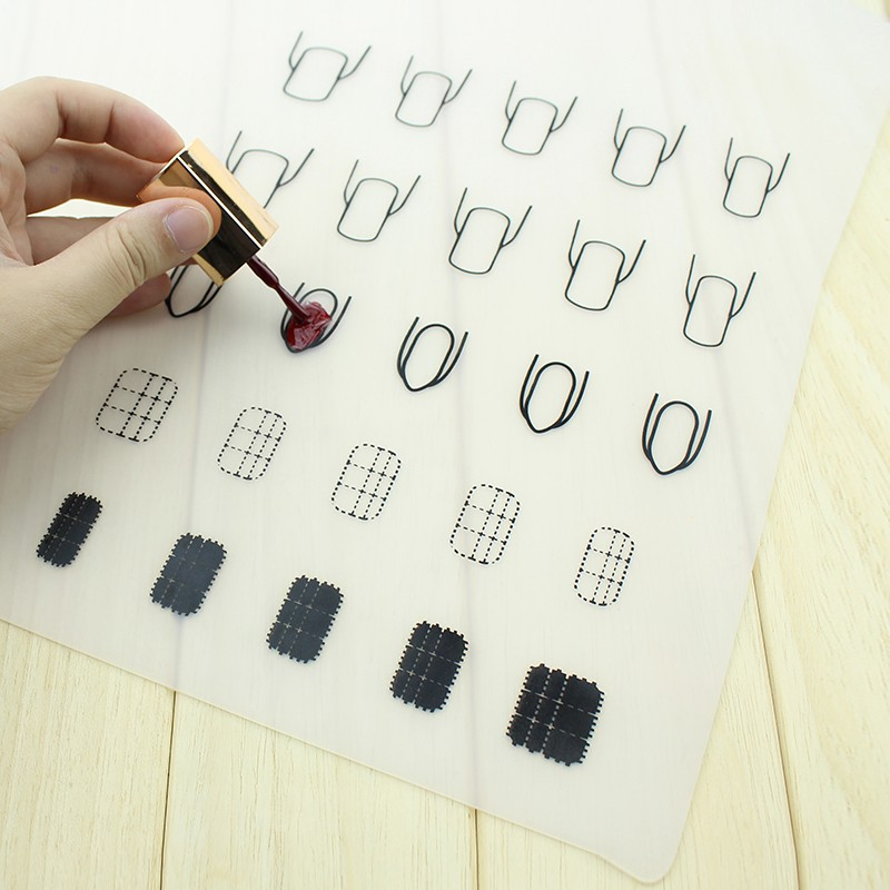 Nail Practice Silicone Coloring Pad Mat Polish Sticker Stamping Guide Printing Transfer Table Cover Palette Tools