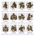 Antique bronze encantos constelação Do Zodíaco, 1 pc de cada um dos 12 estilo pingentes para colar/pulseira de jóias