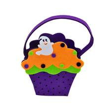 Halloween Ghost Candy Bag Trick Or Treat Bags Candy Gift Storage Bag Tote(China)
