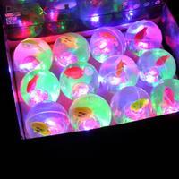 12PCS Bouncy Ball Colorful LED Light Flash Cartoon Kids Children String