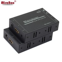 MiraBox 60 м 4 К HDMI Extender Поддержка HD 2160P @ 30 Гц EDID Технология Двусторонняя ИК пульт управление, cat5/Cat6 RJ45 HDMI Splitter