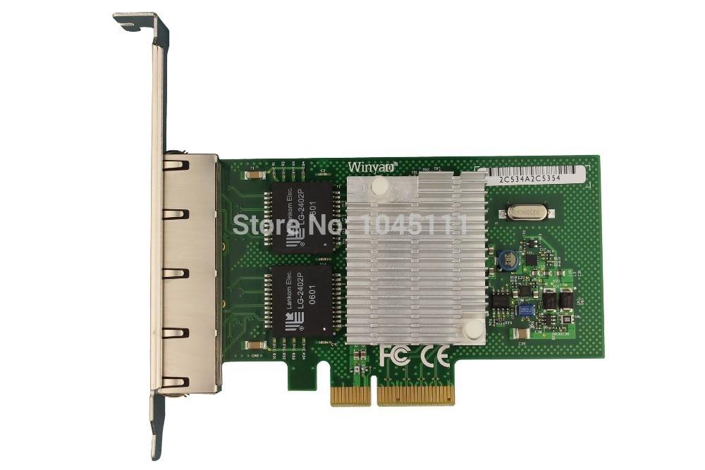 Winyao WYI350-T4 RJ45 PCI-E Gigabit Ethernet Network Adapter Card NIC inteli350t4 1000Mbps VLAN ESXI ISCSI PXE remote boot winyao wyi350 t4v2 pci e x4 rj45 qual port server gigabit ethernet 10 100 1000mbps network interface card for i350 t4 nic