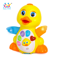 Free Shipping Huile Toys 808 EQ Flapping Yellow Duck Child Puzzle Electric Toy Animal Music