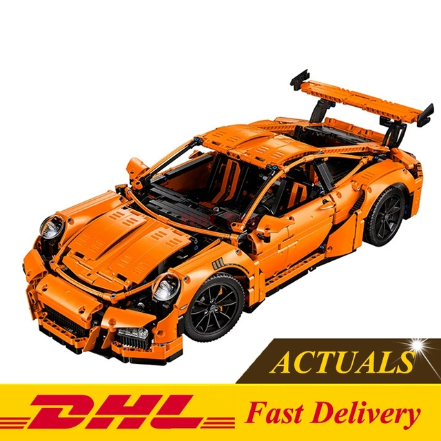 2017 Nueva LEPIN 20001 2704 Unids Serie Técnica 911 GT3RS Carrera coche Kits de Edificio Modelo Bloques de Ladrillos de Juguete Compatible Con El Regalo 42056