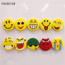 FOURETAW 1 Piece Creative Cartoon Novelty Yellow Smile Smiley Mood Face Fridge Magnets Souvenir Magnetic Sticker Drop Shipping