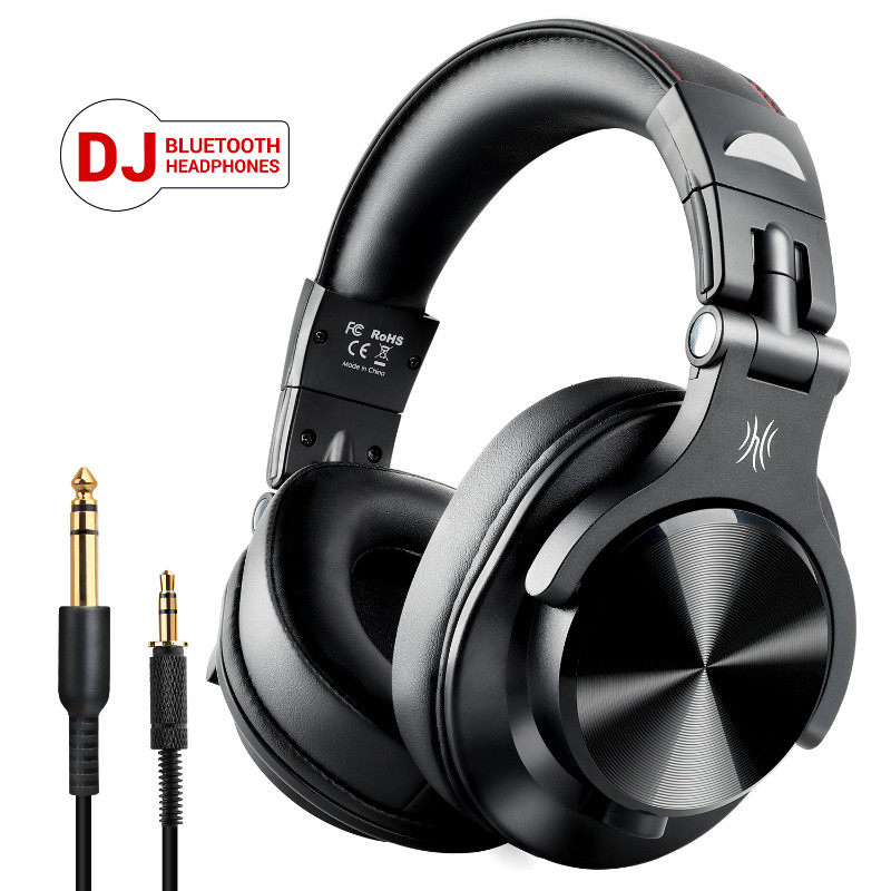OneAudio Fusion Over Ear Bluetooth Headphones Professional Studio Recording Monitor Wired DJ Headphone Wireless Headset With