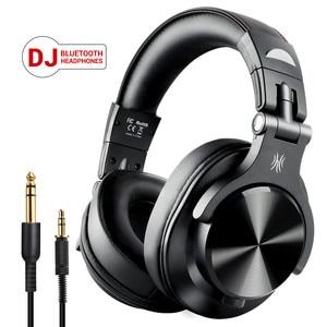 Image 1 - OneOdio A70 bezprzewodowe słuchawki Bluetooth na ucho profesjonalne Studio nagrań Monitor przewodowy zestaw słuchawkowy DJ z mikrofonem