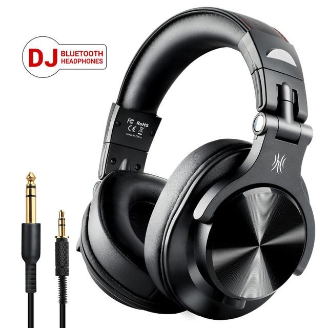 OneOdio A70 bezprzewodowe słuchawki Bluetooth na ucho profesjonalne Studio nagrań Monitor przewodowy zestaw słuchawkowy DJ z mikrofonem