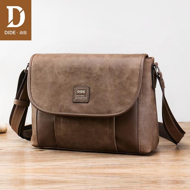 19a83c3b41ca DIDE Brand men messenger bags leather men shoulder bag mens crossbody bag  waterproof IPad bags male designer high quality DQ819