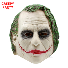 Joker Mask Realistic Batman Clown Costume Halloween Mask Adult Cosplay Movie Full Head Latex Party Mask