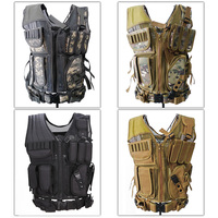 4 Colors Camouflage Mesh Military Tactical Hunting Vest Wargame Body Molle Armor Hunting Accessories Vest CS Outdoor Equipment
