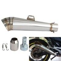 Exhaust Muffler Pipe For Honda Yamaha MT09 FZ09 FZ07 MT07 For Kawasaki Z750 Z800 Z900 For Suzuki GSXR 750 1000 For KTM Duke ADV