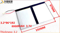 3 7v 8000mAh For Teclast X98 Air 3G P98 3G Tablet PC Battery 3 Wire X98