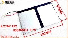 3.7 В 8000 мАч 3296192 для teclast x98 air 3 г p98 3 г таблетки PC Батареи 3 провода X98 X98 AIR X98 p98 P98HD P98