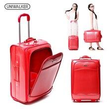 UNIWALKER 19 20 23 дюймов унисекс классический прокатки Hardside чемодан мода ПВХ тележка Maleta с колёса дорожного чемодана Raliz