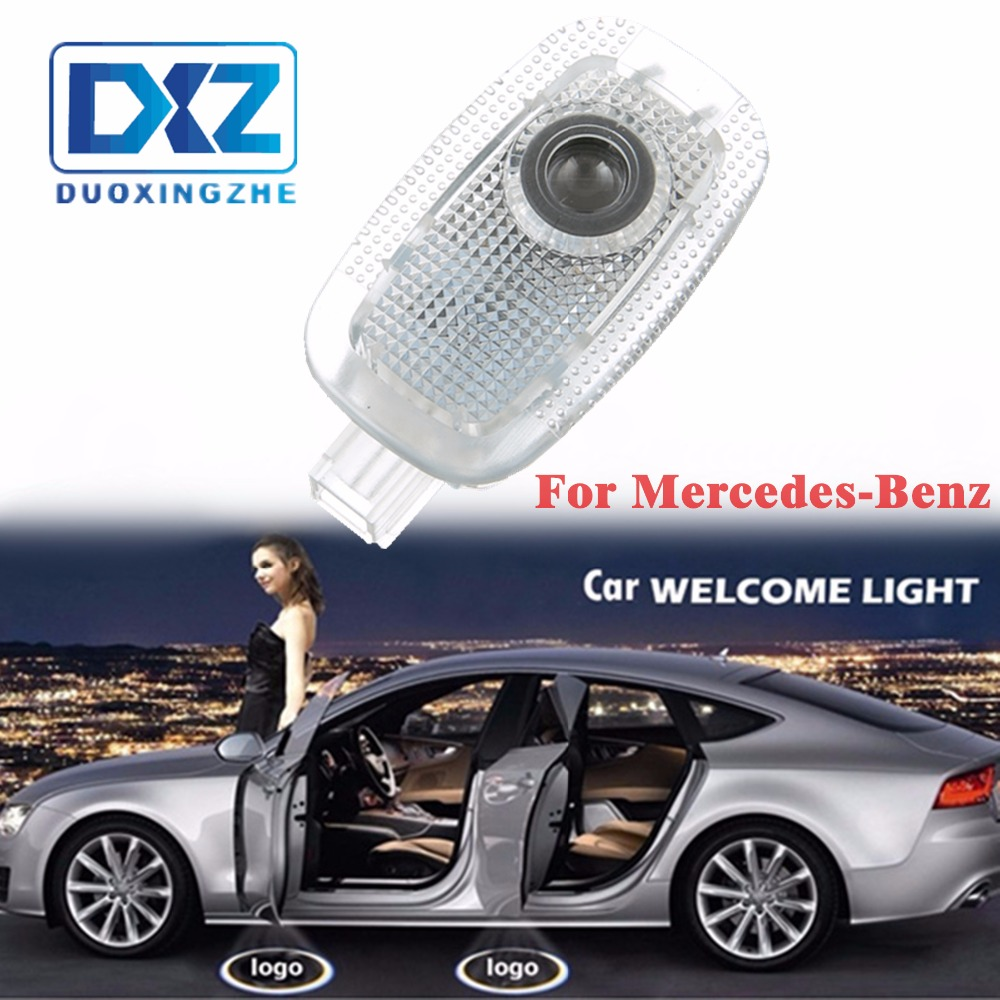 2PCS CAR Door Lights For <font><b>Mercedes</b></font> Benz S320 LED door step courtesy laser projector lights image