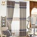 Новое поступление  серые полосатые Роскошные затемненные шторы из синели для кабинета  спальни  занавески для гостиной  в североевропейско...
