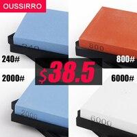 OUSSIRRO Whetstone Set 4 Pcs Professional Knife Sharpener Knife Stone 240 800 2000 6000 Grit Honing