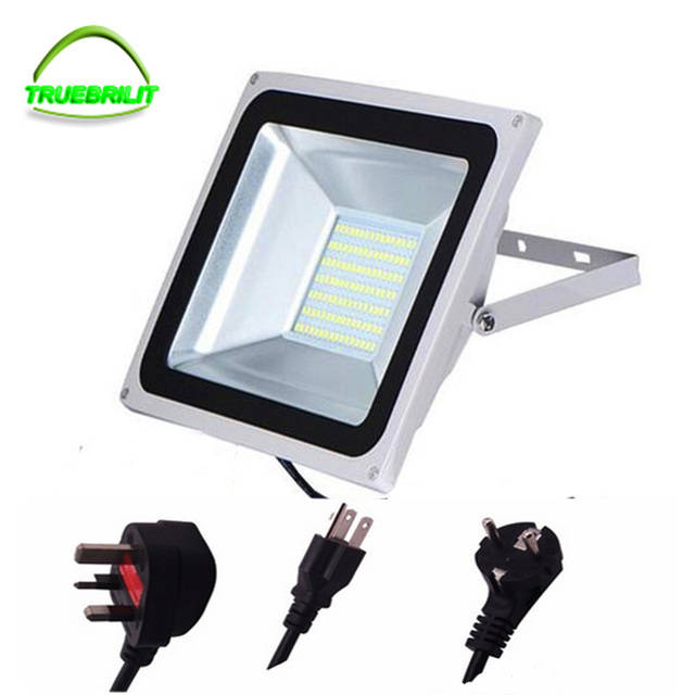 Outdoor LED Flood Lights 10W 30w 50W  IP67 Waterproof  220V 240V SMD5730 Floodlights  Lighting With EU Plug 2016 Newest