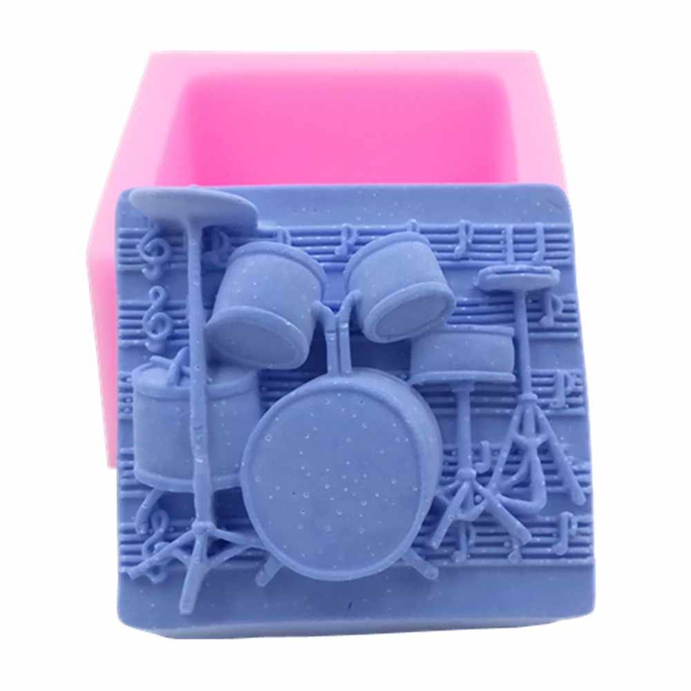 Music Design Soap Mold 3D Silicone Mold for Soap Making Food Grade Chocolate Sugar Cake Molds