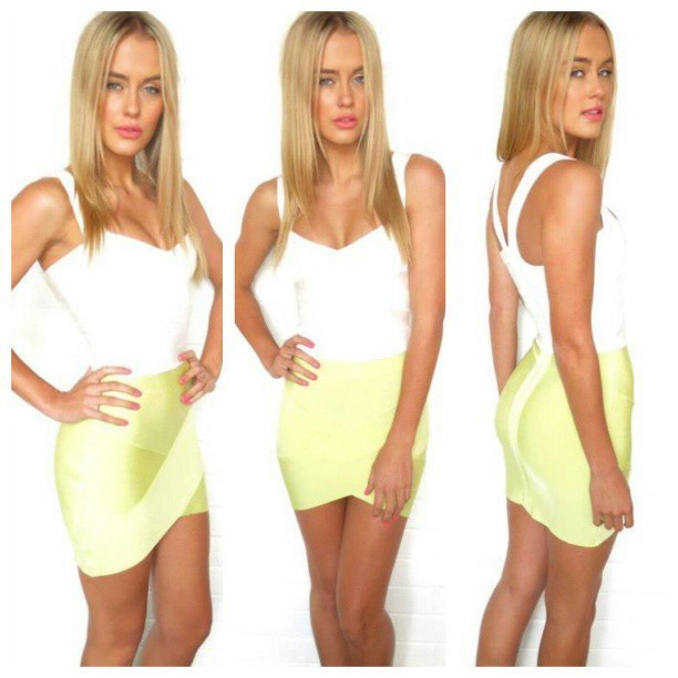 Free Delivery European and American fashion star Various colors cross bandage skirts 4