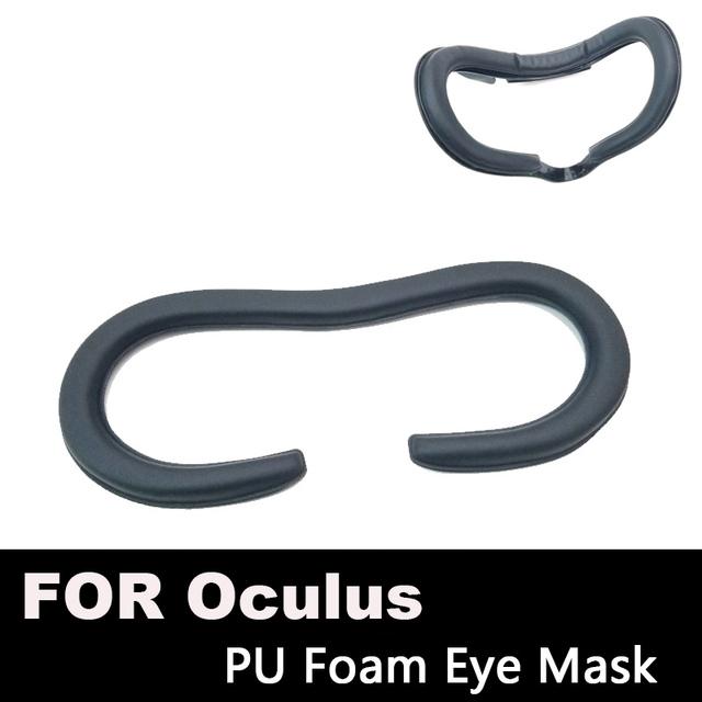 Face Foam Replacement Eye pad For Oculus Rift Headset VR PU Leather Foam Cover Black Virtual Reality Accessories (Better FOV)