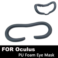 Face Foam Replacement Eye Pad For Oculus Rift Headset VR PU Leather Foam Cover Black Virtual