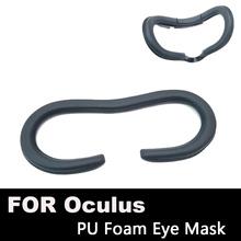 Pianka do twarzy zamiennik Eye Pad dla Oculus Rift Headset VR PU skórzana pianka pokrywa czarny wirtualna rzeczywistość akcesoria (lepsze FOV) tanie tanio Brak Podkładka VR PU Wciągające Maski PU do Oculus Rift W AOVEISE