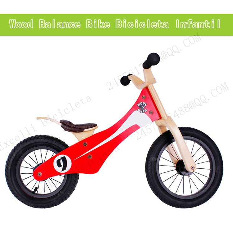 a03-Baby two wheels Wood Balance Bike for 2-6 Years age Bicicleta Infantil Balance Bike Kid's bicycle Common Childen's Cycling