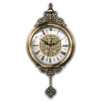Nordic American European style living room clocks swing office charts retro silent sweep second clock quartz clock wall