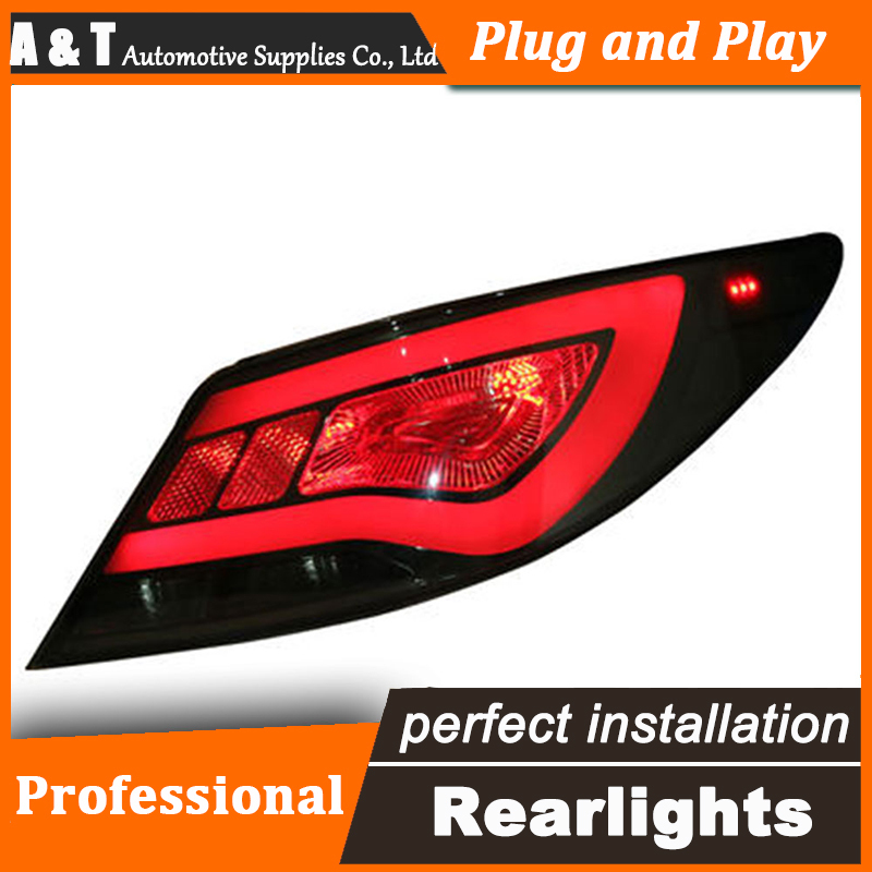 Car Styling LED Tail Lamp for Hyundai Accent Taillights Solaris Verna Rear Light DRL+Turn Signal+Brake+Reverse auto Accessories akd car styling for hyundai accent led tail lights 2011 2013 solaris tail light verna rear lamp drl brake park signal